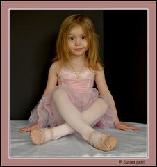 DANCER AT REST, III (susies.genii) Tags: girl blackbackground dancer tutu pinktutu balletcostume