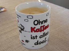 Ohne Kaffee ...