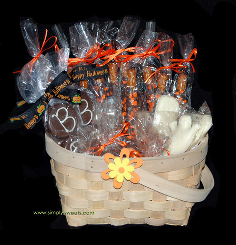 Halloween basket of chocolates