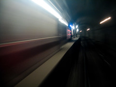 Tunnel Alt. IV (FissionMailed.com) Tags: city chicago motion speed train canon underground subway flow glow shine cta ride streak trails rail tunnel powershot transit commute guesswherechicago chicagounguessed rails underneath streaks tunnelvision a540 fissionmailed