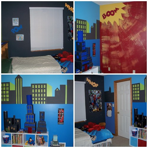 comic book bedroom originally uploaded by flying time designs