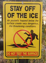 Stay Off The Ice (Cowtools) Tags: colorado roadtrip rockymountains pikespeak sevenfalls manitousprings pikespeakhighway october2007