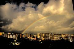 Arcobaleno Catania HDR (brunombo) Tags: city sky italy clouds buildings rainbow italia nuvole cielo sicily arcobaleno hdr catania città palazzi ritocco smcpda1855mmf3556al justpentax flickrsicilia