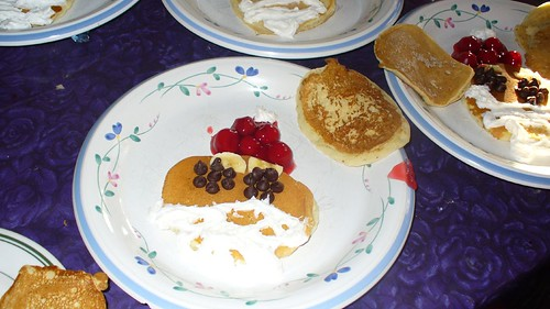 Santa Pancakes in honor of St. Nicholas Day