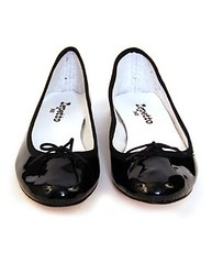 repetto black patent ballet flat