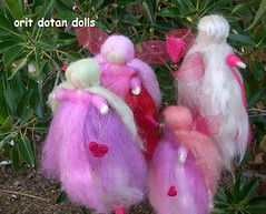 wool fairies   (orit dotan) Tags: colour art wool children dolls handmade crafts felt fairy needle fairies handwork waldorfdoll  naturalkids    waldorfdolls   steinerdolls  oritdotandolls       waldorfpuppen    waldorfeducation dollsartist