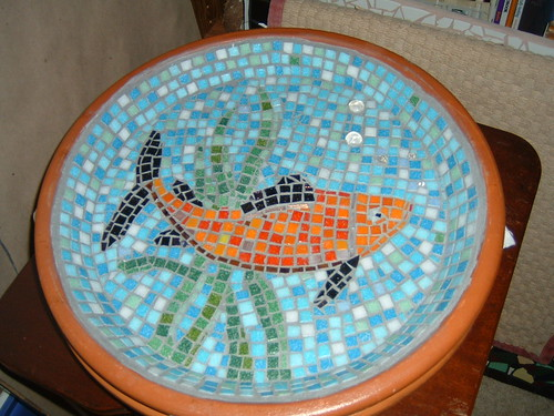 mosiac birdbath/saucer by you.