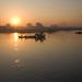 sunrise at Irrawaddy river