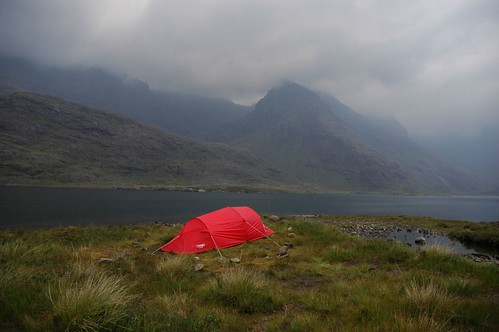 Camping on the shores of loch Coruisk
