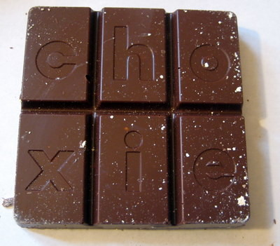 Choxie milk chocolate roasted almond sea salt bar