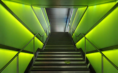 my green illuminated way home (Toni_V) Tags: city urban green topv111 architecture topv555 bravo zurich perspective notripod d300 shopville toniv anawesomeshot betterthangood toniv