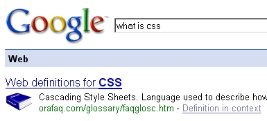"""Google """"What is"""" Definition"""