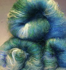 lambs, queen mermaid batts, and sock yarn 068