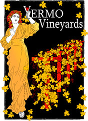 Yermo Vineyards Label  and Logo (faith goble) Tags: art glass illustration digital advertising logo vineyard artist photographer wine god drawing kentucky ky goddess vine bacchus creativecommons grapes poet writer vector winelabel adobeillustrator bowlinggreenky bacchante firsthand bowllinggreen faithgoble grafixer ccbyfaithgoble gographix faithgobleart thisisky