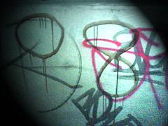 Victoria Bridge Graffiti at night 08 (marc e marc) Tags: graffiti southport 08 liverpoolcapitalofculture2008 figuresof08