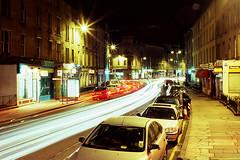 Brougham Street, Night Time (nigeljohnwade) Tags: longexposure bulb night edinburgh bronica lighttrails broughamstreet etrsi t64