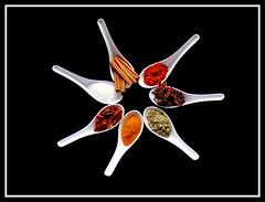 SPICY STAR (PLAUTILA) Tags: spice salt spoon paprika anis piripiri cinnemon photoassignmentnet ilustrarportugal origanofoodsweetscoffespicespoonsugar