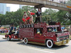 shortest shorts in the parade (xepht) Tags: houston oldies artcarparade