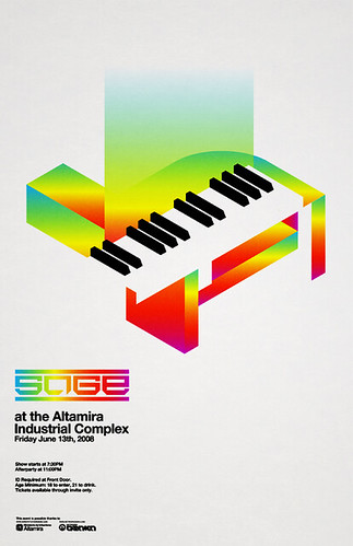 music abstract poster industrial piano sage event synth osaka network electronic complex isometric altamira