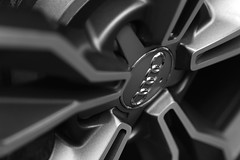 Four Rings [57/365 2017] (steven.kemp) Tags: audi tts alloy wheel four rings monochrome blackandwhite bw german car