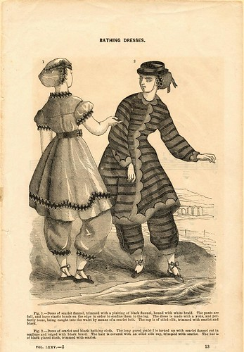 Bathing dresses, 1864