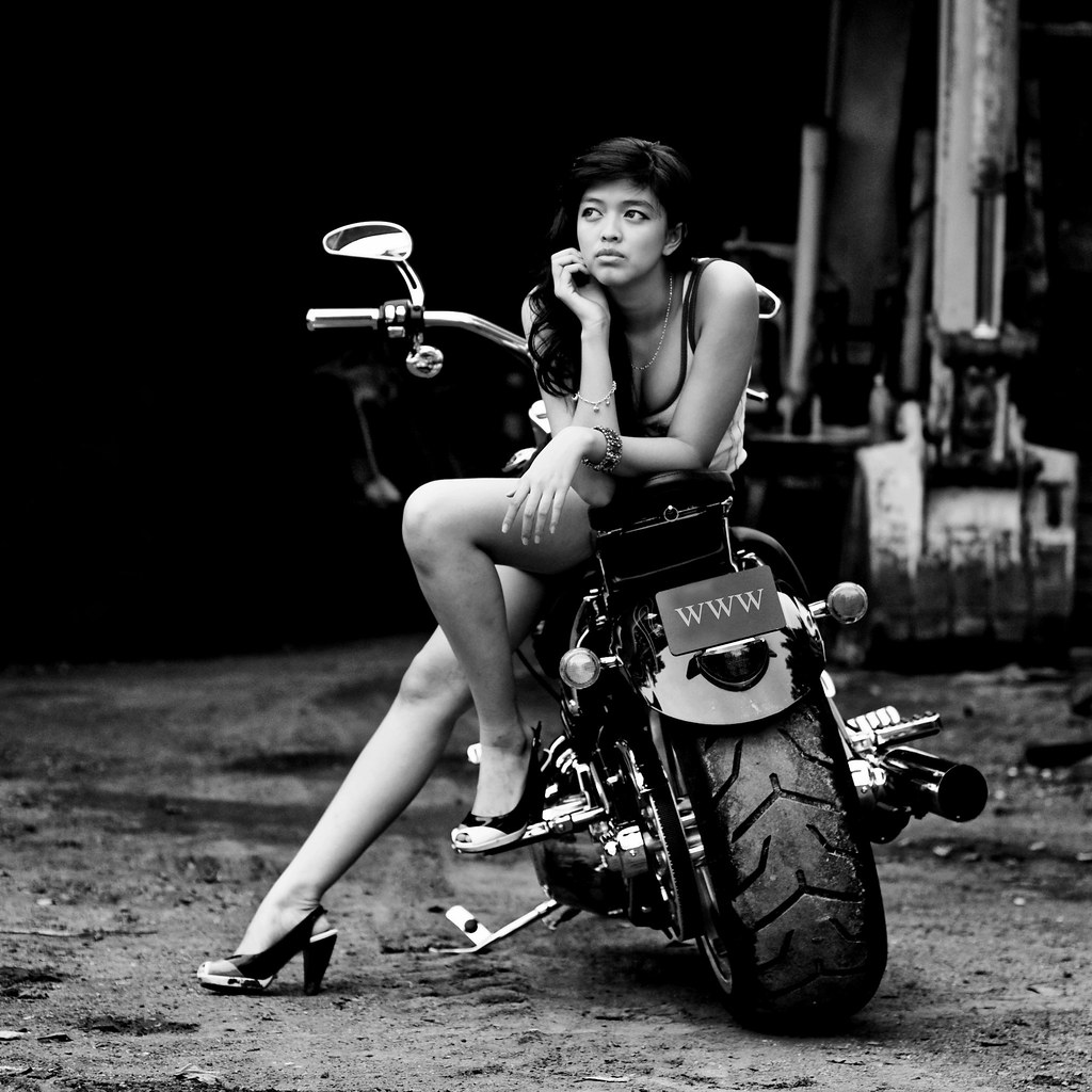Girl With Harley-Davidson