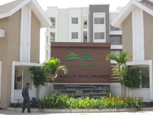Main entrance of Kolte-Patil Developers' Green Groves - Ready Possession  2 BHK 3 BHK 4 BHK Flats & Bungalows - Wagholi - Kharadi Annexe - Nagar Road - Pune