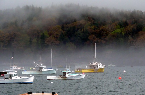 Fishing Boats and Fog by RV Bob