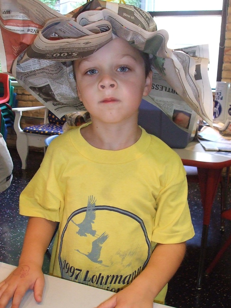 Ben with paper hat