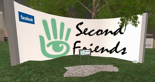 Second Friends in-world kiosk