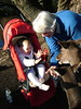 Feeding the deer with Nana at Willowbank Wildlife Park