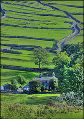 Goredale Farm, Malham (kevbabe) Tags: autumn trees green grass farmhouse landscape nationalpark scenery perfect photographer farm yorkshire agriculture soe drystonewall northyorkshire malham yorkshiredales naturesfinest goredalescar supershot flickrsbest mywinners abigfave nikond80 shieldofexcellence superbmasterpiece diamondclassphotographer flickrdiamond theperfectphotographer