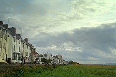 parkgate - dee estuary - england (~ paddypix ~) Tags: sky colour green nature clouds photoshop buildings shoreline picasa doorsandwindows moodyblues ukandireland