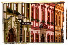 Houses - Domy (pavel conka) Tags: old city beautiful digital canon way square eos 350d europa czech 2006 okno dm domek hradec namesti cestovn echy domy amazingtalent kralove mywinners colourartaward