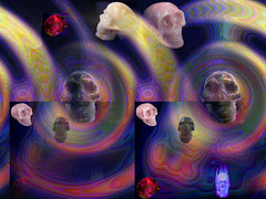The magic of these crystal skulls (tatyveli) Tags: skulls magic crystalskulls crystalskull golddragon diamondclassphotographer creativephotographers goldstaraward