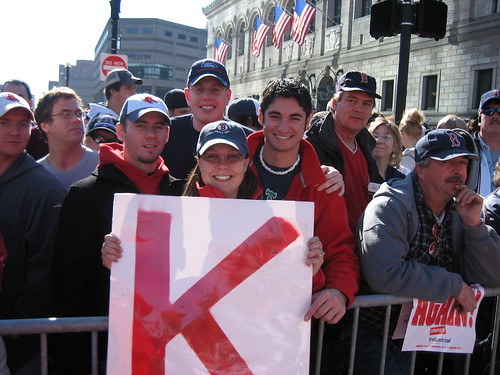 "Me, Eric, Brian and Chris with K-Men's ""K"" Sign"