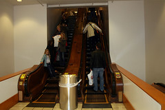 Macy's - wooden escalators