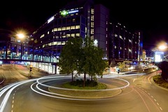 Laps (Bjar9) Tags: road city light cars car oslo norway long time shutter sentrum amazingtalent bnatt