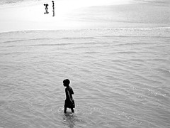 Underneath The Sky (Kiky01) Tags: ocean life africa sea people blackandwhite bw baby reflection love water kids canon wow children freedom blackwhite amazing mare alone peace child emotion bambini awesome wave happiness atlantic persone oasis morocco marocco solitary essaouira bianconero tender moroccan feelings bwdreams supershot a passionphotography mywinners bwdream aplusphoto theunforgettablepictures excapture everywherewalks italianflickrworld portraitworld bwawards photographytlc