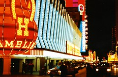 USA  - Nevada - 1990 (Chris&Steve) Tags: world street usa up night four hotel kid cool downtown neon sam lasvegas nevada casino fremont queens honey horseshoe 1990 fitz binions fitzgeralds blew the p100 boyds 10millionphotos honeyiblewupthekid v100i
