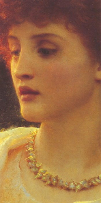 Sir Frank Dicksee, Sylvia (detail)
