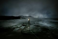 lone explorer (sgoralnick) Tags: andy misty night iceland nightshot foggy canon5d geyser raining geysir steamy canon1635mmf28l offcameraflash canonspeedlite580ex andyclymer canonef1635mmf28liiusm