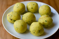 Aloo Paratha, potato balls