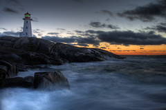 (iJohn) Tags: ocean blue light sunset sea lighthouse canada bravo waves novascotia wave peggyscove soe littlestories magicdonkey outstandingshots 25faves anawesomeshot thegardenofzen thegoldendreams picswithsoul