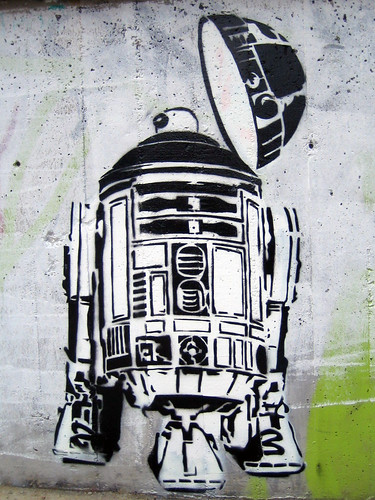 R2D2  R2d2 Stencil