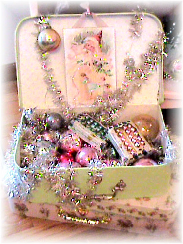 Suitcase Of Vintage Decorations