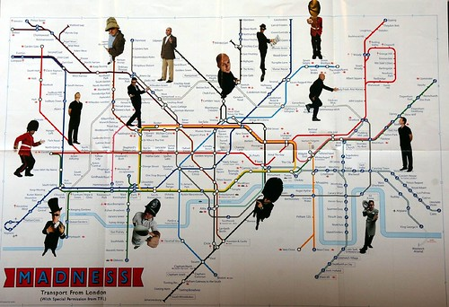 Photo of Madness Tube Map - click to see full size
