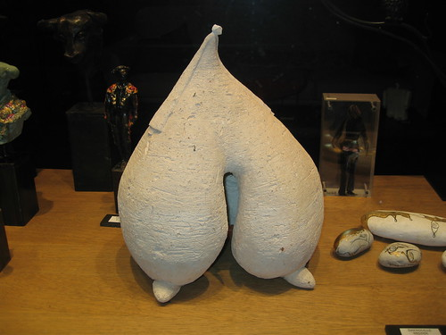 Sculpture resembling shapes of heart, breasts, buttocks and other body parts in abstract