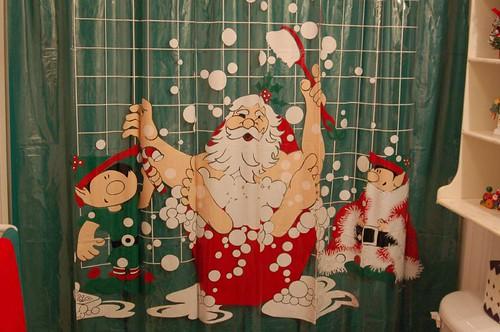 ... Or Santa Claus Shower Curtains.