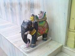 The elephant (Sir Nicholas de Mimsy-Porpington) Tags: india gujarat jainism jaintemple mehsana mahesana jaintempleingujarat